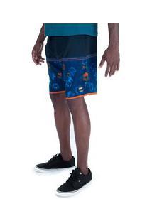 Bermuda Hd Sublimada 8702A - Masculina - Azul Escuro