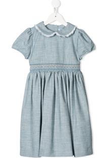 Siola Vestido Com Acabamento Bordado - Azul