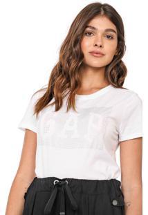 Camiseta Gap Aplicações Off-White