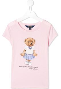 Ralph Lauren Kids Camiseta Polo Bear - Rosa