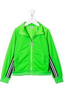 Gcds Kids Jaqueta Esportiva Com Logo E Listras - Verde