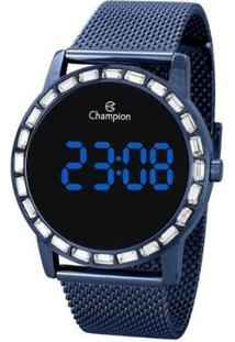 Relógio Champion Digital Ch40160A Feminino - Feminino-Azul
