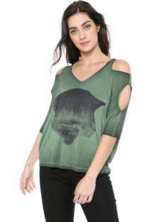 Camiseta Osmoze Destroyed Verde
