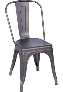 Cadeira De Jantar Retrô- Bronze- 86X36X35,5Cm- Oor Design