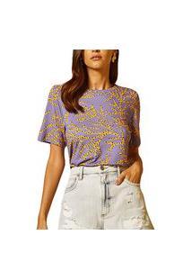Camiseta Forum Estampada Roxo Feminino
