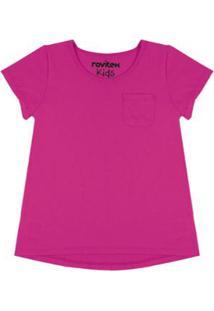 Blusa Infantil Baby Look Premium Rovitex Kids Feminina - Feminino-Roxo