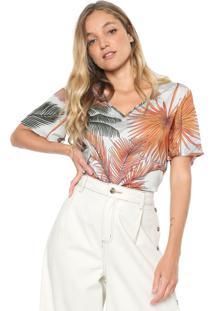 Camiseta Forum Tropical Off-White/Laranja