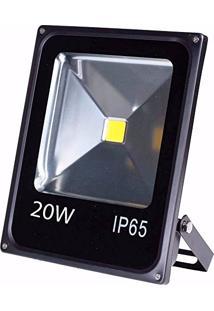 Refletor Holofote 20W Led Luz Branca Impermeável