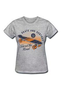 Camiseta Coolest Skate And Destroy Cinza