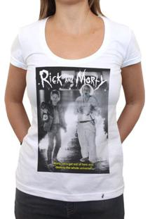 Rick And Morty Are Back To The Future - Camiseta Clássica Feminina
