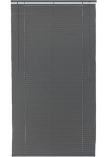 Persiana Horizontal Pvc Block 220X100Cm Cinza