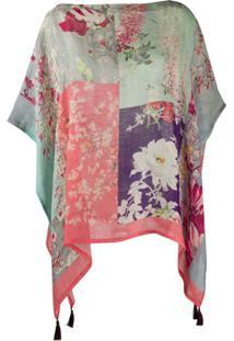 Etro Poncho Floral - Rosa