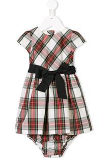 Ralph Lauren Kids Vestido Com Estampa Xadrez - Neutro