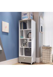 Estante Para Livros 1 Gaveta Ch050 Branco - Art In Móveis