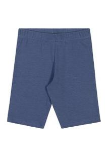 Bermuda Lecimar Kids Em Cotton Alto Veráo Jeans