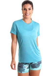 Camiseta Basic Em Energy - Turquesa - Liquido