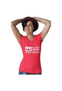 Camiseta Feminina Gola V Ezok Royal Brand Vermelho