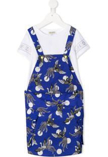 Kenzo Kids Vestido Salopete - Azul