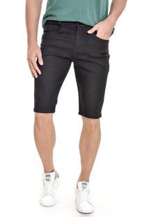 Bermuda Jeans Lemier Collection Slim Preta - Kanui