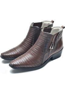 Bota Cano Curto Dr Shoes Café