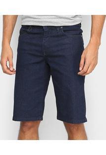 Bermuda Jeans Volcom Original Vorta Masculina - Masculino-Azul