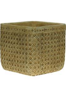 Vaso Decorativo De Cimento Palha Mady