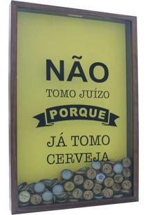 Quadro Porta Tampinhas Juizo 30X50X5 Natural