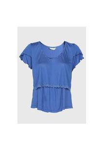 Camiseta Love Secret Amamentaçáo Azul