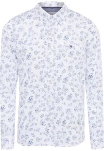 Camisa Masculina Floral - Off White