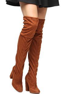 2fadb4258 Bota Over Knee Algodao Caramelo feminino | Shoes4you