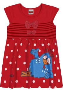 Vestido Infantil Kely Kety Menina Vermelho - 1
