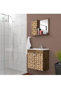 Conjunto Para Banheiro Catar Madeira Rústica E Madeira 3D