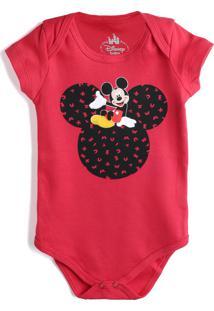 Body Marlan Baby Menino Mickey Vermelho