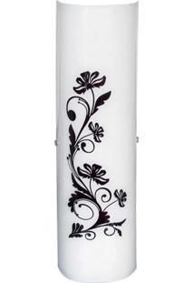 Arandela Vênus Grande Silk Flores 2 Lâmpadas Preto