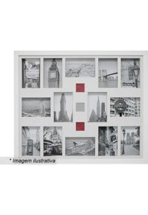 Painel Para 14 Fotos- Branco- 54X64X3Cm- Kaposkapos