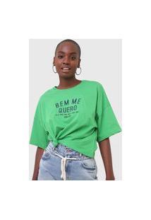 Camiseta Colcci Bem Me Quero Verde