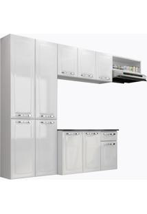 Cozinha Compacta Com Tampo 4 Peças Amanda - Itatiaia Aço - Branco Neve