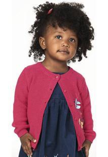 Casaco Infantil Bebê Menina Em Tricô Com Bordado Em Crochê Puc