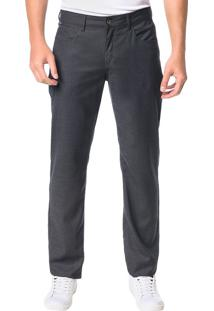 Calça Calvin Klein 5 Pockets Xadrez Chumbo - 40