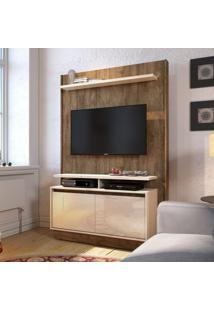 Painel Para Tv 40 Polegadas Fit Madeira Touch Com Off White 122 Cm