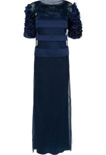 Gloria Coelho Vestido Longo Recortes - Azul