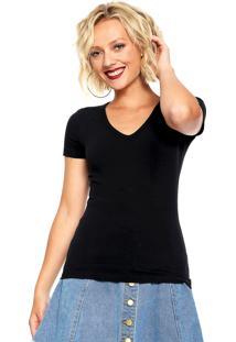 Camiseta Hering Bã¡Sica Preta - Preto - Feminino - Algodã£O - Dafiti
