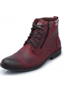 Bota Casual Difranca - Tracker Estonada Bg - 2066 - Bordo