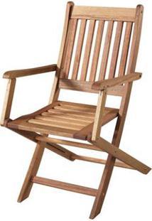 Cadeira Dobravel Com Braco Cor Stain Jatoba - 15555 - Sun House