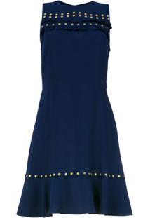 Michael Michael Kors Vestido Curto Com Tachas - Azul