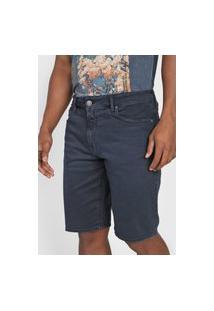 Bermuda Jeans Calvin Klein Jeans Reta Lisa Azul-Marinho