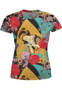 Camiseta Estampada Baby Look Over Fame Amarela