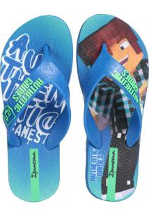 Chinelo Infantil Ipanema Authentic Game Azul