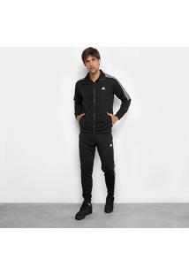 Agasalho Adidas Tiro Masculino - Masculino-Branco+Preto