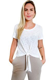 Camiseta Cropped Nó It Shop Offwhite - Kanui